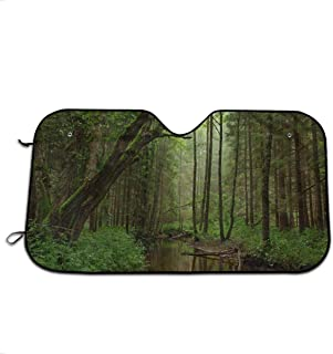 Virgin Forest Car Windshield Sun Shade Window Windscreen Cover Universal Fit Car UV Ray Sun and Heat Visor Protection