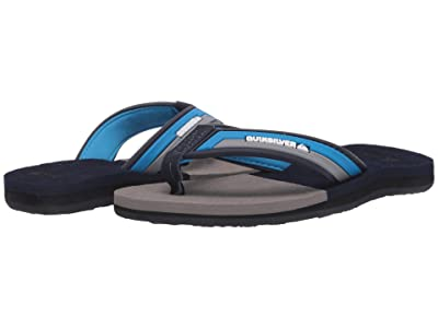 Quiksilver Kids Molokai Eclipsed Deluxe (Toddler/Little Kid/Big Kid) (Blue/Grey/Blue) Boys Shoes