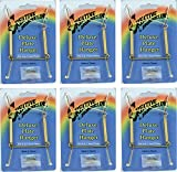 Creative Hobbies Deluxe Plate Display Hangers, Spring Style- Assembled & Ready to Use -Hold 5 to 7 Inch Plates- Gold Wire Spring Type, Hanger Hooks & Nails Included -Pack of 6 Hangers