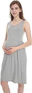Maternity Dress Super Soft Rayon for Summer Spring, Sleeveless, Empire Waist, for Baby Shower