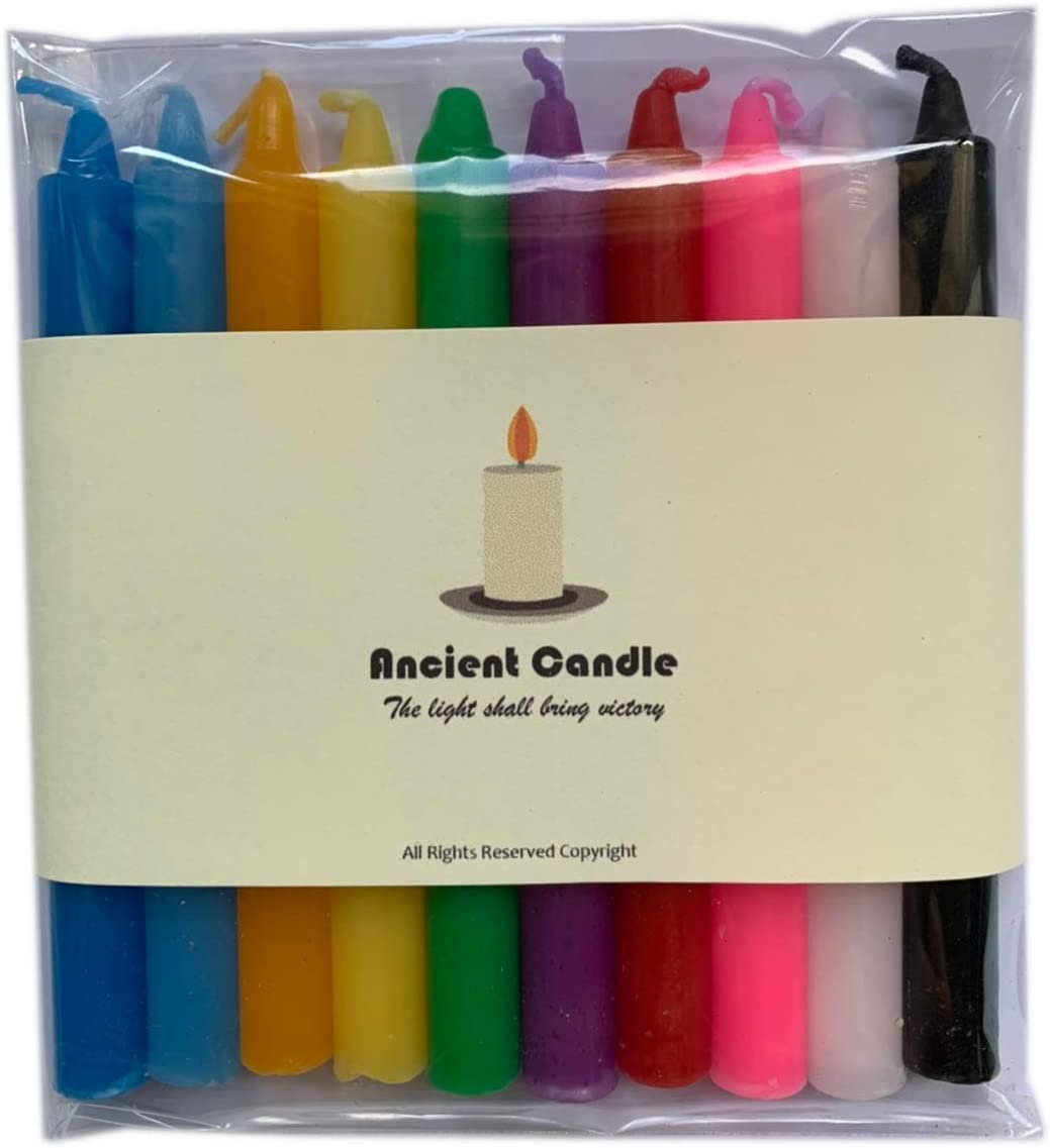 """Velas Ritual Altar Spell Candles 4/"""" Lot of 4 Mini Taper Chime Candle Magic"""