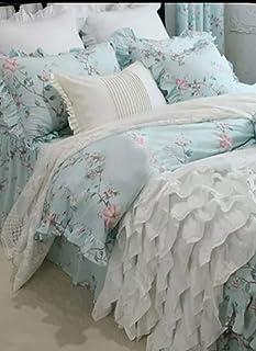 SHABBY CHIC ISABELLE Juego de ropa de cama compuesto por colcha/funda nórdica de 200 x 230 cm, vestidura de 160 x 200 cm, dos fundas de almohada de 48 x 75 cm