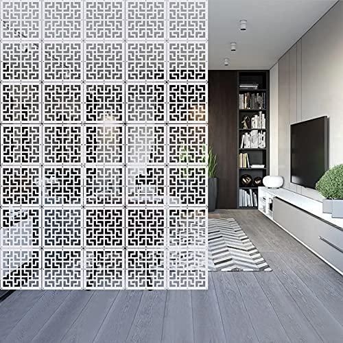 YHANEC Divisor de habitaciones colgante, 12 unidades, divisor de espacio, separador de habitación, de madera, para decorar habitaciones, hoteles, restaurantes y bares, DIY, 29 x 29 cm (blanco)