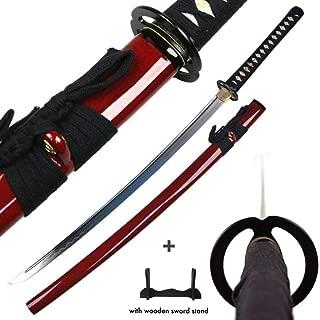 Winsdar Traditional Japanese Classic Handmade Samurai Sword Sharp Blade Katana Musashi