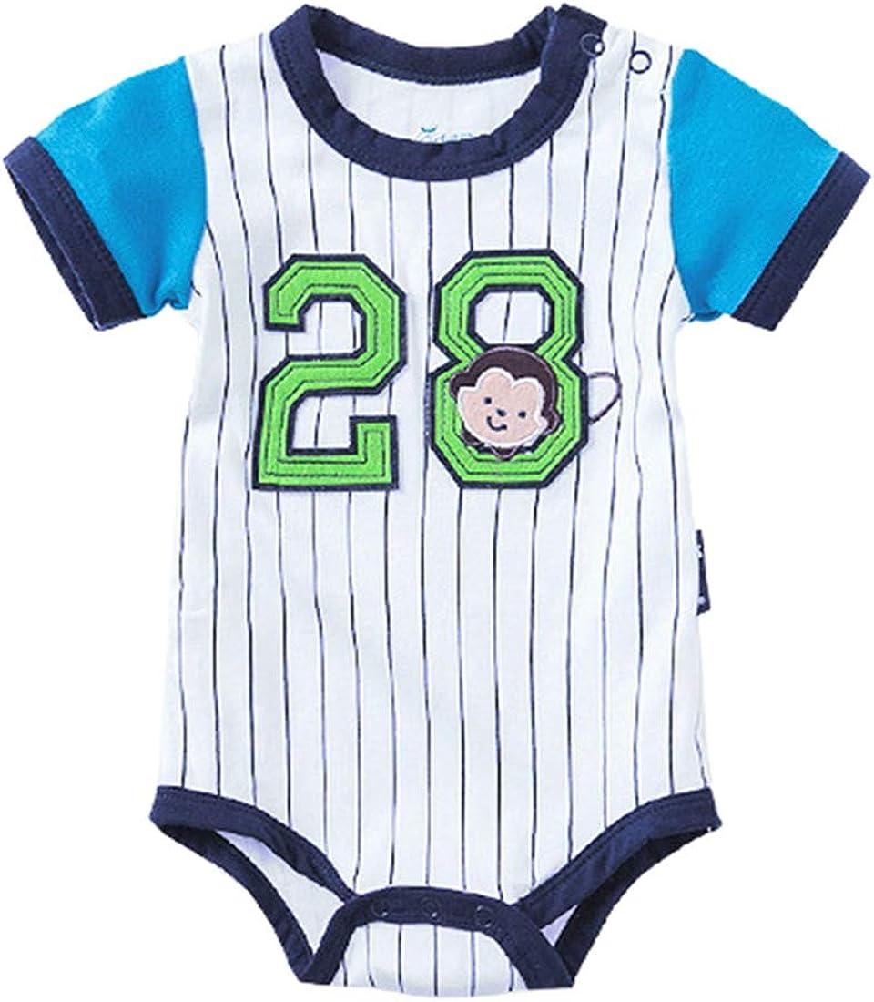 ALLAIBB Summer Infant Baby Boys Outfit Algodón A Rayas Body ...