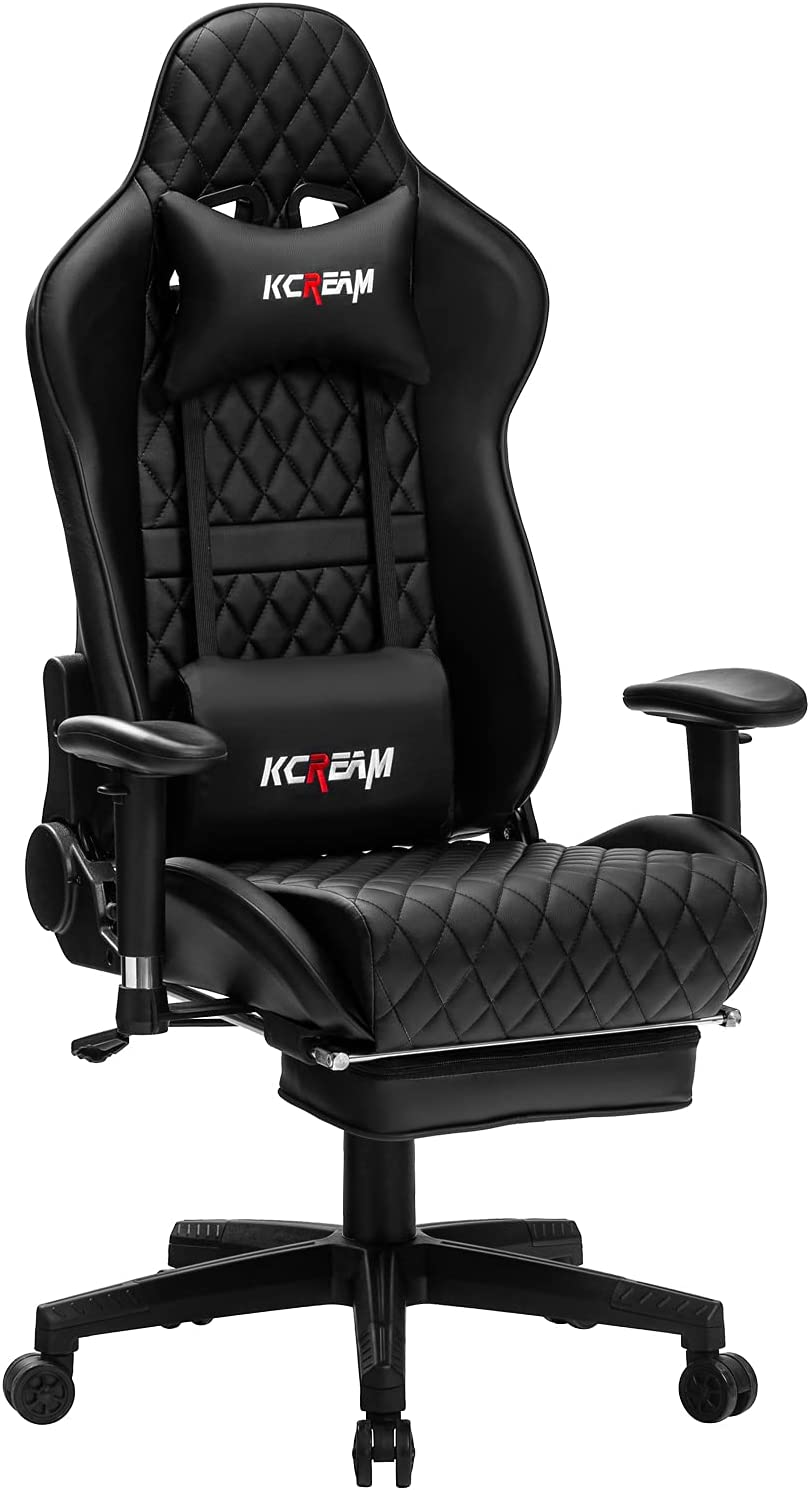 Complete Free Shipping KCREAM Large Gaming Chair with Professional Gamer low-pricing Footrest