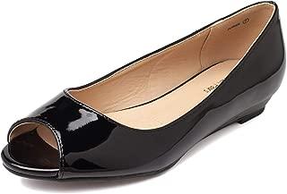 dressy peep toe flats