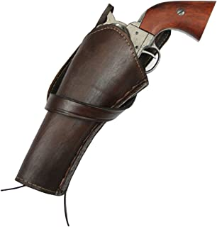 Historical Emporium Men's Left Hand Plain Leather Western Cross Draw Holster