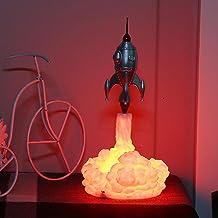 FDKJOK 3D Print Raket Lamp, Space Shuttle Lamp Nachtlampje 10in/68 cm Maan Lamp Materialen met USB Oplaadbare voor Raket L...
