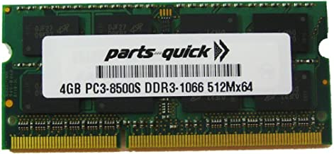 4GB Memory for Toshiba Satellite C645D-SP4248L DDR3 PC3-8500 RAM Upgrade (PARTS-QUICK BRAND)