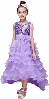 (プタス) Putars 子供ドレス チュールドレス 女の子 フォーマル シークイン キラキラ 五色 プリンセス 可愛い 結婚式 ピアノ 発表会 記念日 プレゼント 3-9歳