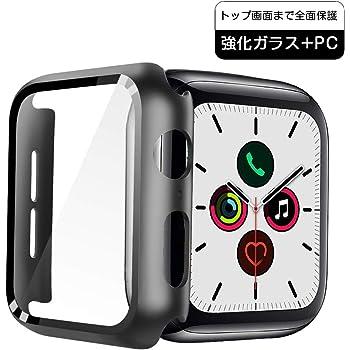 【3D全面保護】JOYSKY Apple Watch Series 5 / Series 4 44mm ケースフルスクリーンLCD保護 PCフレームは正確な穴の位置にぴったりとフィットし 傷防止、防塵、耐衝撃、超軽量のApple Watch Series 5 / Series 4 44mm保護カバー のワンピース保護カバー (ブラック)