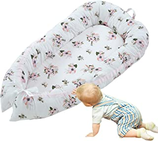 Baby Lounger, Hamkaw Newborn Lounger, Portable Soft Breathable Baby Nest, Removable Cover Baby Bed - Crib Mattress for Bedroom Travel