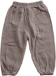 ruiruiNIE Pantalones Largos Anti-Mosquitos para niños Pantalones Sueltos de algodón de Color sólido Bloomer Infantil de Co...