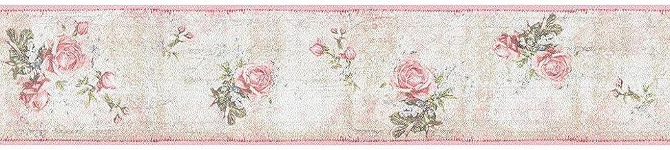 Living Walls 95665-1 - Cenefa decorativa de papel pintado, diseño estampado de flores