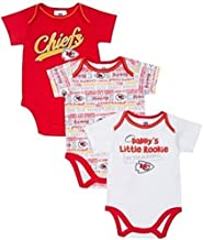 Gerber Baby Boys Kansas City Chiefs Infant Bodysuits - 3 Pack