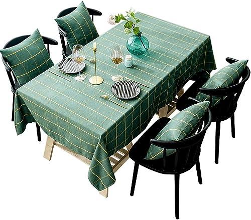 precios mas bajos Duanguoyan Mantel- Mantel de Tela Escocesa verde verde verde Oscuro algodón y Lino Mesa de Centro de Mesa de Tela (Color   verde, Talla   130X130cm)  elige tu favorito