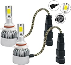 Mega Racer 9005 HB3 CREE COB C6 LED (High Beam Headlight) All-in-One Kit Ultra Bright White 6000K 7600LM 72W Automotive