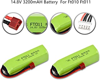 giokfine 2PCS Upgrade Boat 14.8V 3200mAH Battery Part for Feilun FT010 Ft011 RC Boat Spare Durable Battery