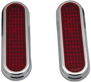 Custom Dynamics GEN-FLATZ-RED-C Universal LED Pods (Chrome Housing/Red/Clear LED Flatz Universal LED Pods)