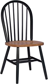 International Concepts 37-Inch High Spindle Back Chair, Black/Cherry