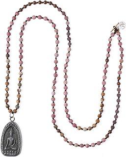 KELITCH Redondo Shakyamuni Buda Hebra Collar El Más Nuevo Largo Rebordeado Colgante Collares