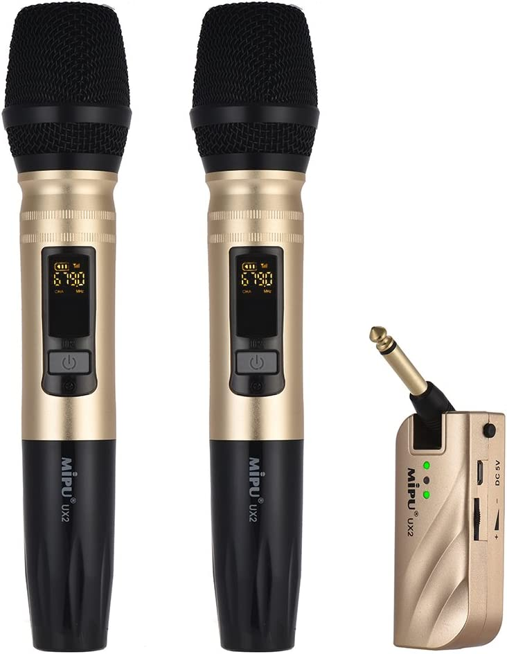 UHF Dual Frequency Wireless Portland Sales Mall Handheld System Microphone Re Mic 1