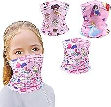 SIXTYSIX 3 Pcs 6-14 Years Kids Bandanas Reusable Washable Neck Gaiter Balaclava, Half Face Protective Masks