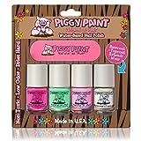 Piggy Paint no tóxico uñas Niñas–seguro, sin productos químicos Piggy pintura 4Pack Mini...