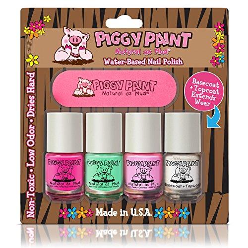 Piggy Paint no tóxico uñas Niñas–seguro, sin productos químicos Piggy pintura 4Pack Mini Set