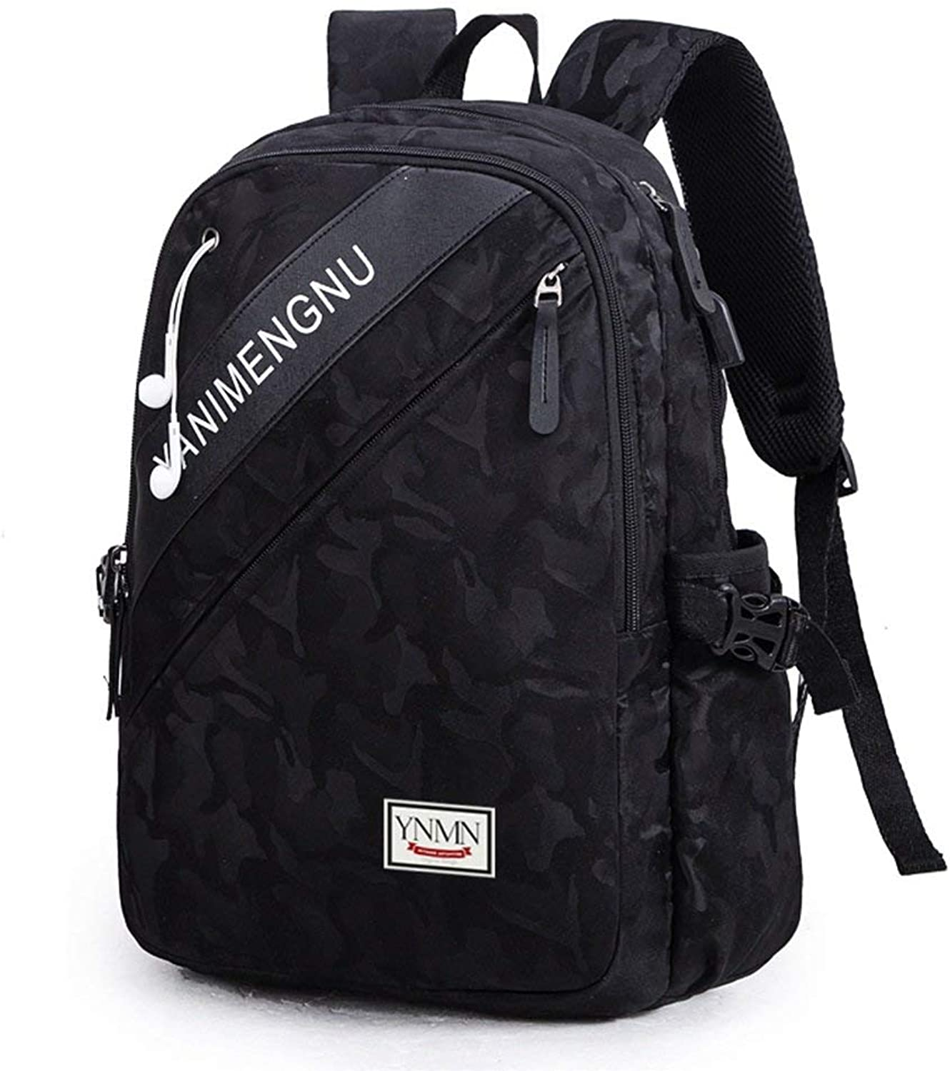 Men's Fashion Backpack Casual Daypacks Backpack The New Students Bag Male Trend Laptop Bag Strong Durable Multifunction (color   A, Size   M)