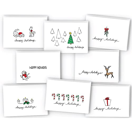 Happy Holidays Greeting Card Gift Tag Collection