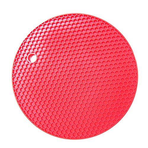 Portavasos Sitios de ollas de silicona Trivets Mat Multiusos Multiusos Bote soportes Trivels Trivets Jar Abrigos Alimentos Caja fuerte Resistente al calor Mats ecológicos (Color : Rojo)