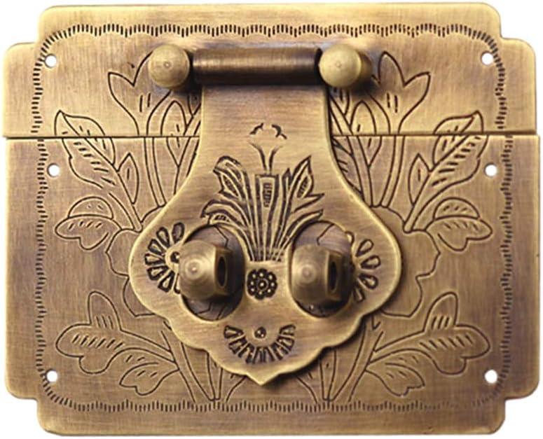 DOITOOL Pure Copper Square Jewelry Box Retro Latch Lo Max 77% OFF Decorative wholesale