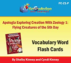 Apologia Exploring Creation with Zoology 1 - Flying Creatures of the 5th Day Vocabulary Word Flash Cards