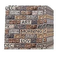 3D壁紙、壁装材、壁パネル粘着性、壁紙ウォールステッカー、peフォーム、3D壁紙、石のレリーフ、装飾用、キッチン、リビングルーム、トイレ、部屋(AR-910pcas)