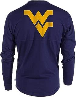 Official NCAA West Virginia University Mountaineers Hail WVU Women's Long Sleeve Spirit Wear Jersey T-Shirt