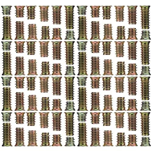 Scicalife Tuercas de Inserción Roscadas de 234 Piezas con 4 Llaves M5 M7 M8 Tuercas de Acero Al Carbono para Muebles Insertos de Tornillo Hexagonal para Muebles de Madera Conector de