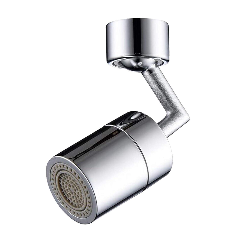 big angle swivel faucet aerator 720/° water outlet Universal Splash Filter Faucet wasserhahn strahlregler innengewinde m24//au/ßengewinde m22,Mit Adapterzubeh/ör