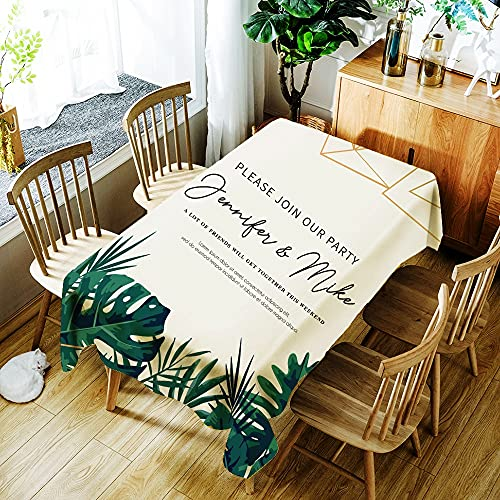 XXDD Beautiful Garland Flowers Printing Tablecloth Waterproof Home Dustproof Washable Rectangular Table Cover A10 140x140cm