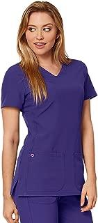 HeartSoul Medical FG 20710 Women's Pitter-Pat Shaped V-Neck Top Grape