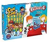 Falomir- Coloca 4 Cuál Pack Mesa, Multicolor (646474)