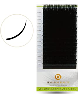 BEYELIAN XD Russian Volume Lashes 0.03mm Mink Eyelash Extensions Individual Semi Permanent Lash Extensions (0.03mm D 15mm)
