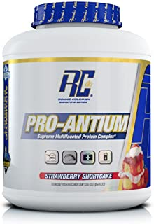Ronnie Coleman Signature Series Pro-Antium, Great Tasting Supreme Multifaceted Protein Powder, Strawberry Shortcake, 5.6 Pound