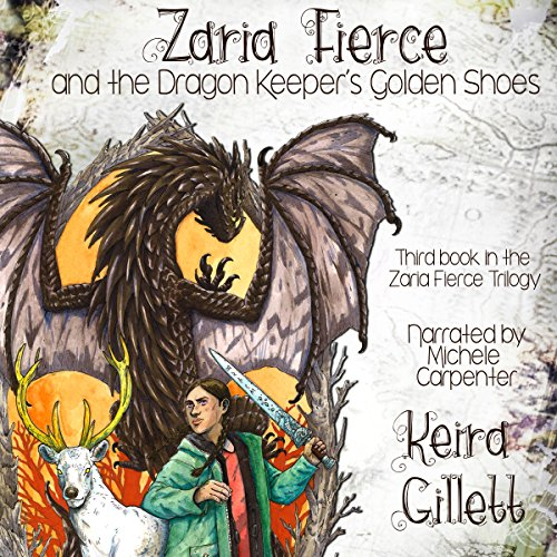 Zaria Fierce and the Dragon Keeper's Golden Shoes audiobook cover art