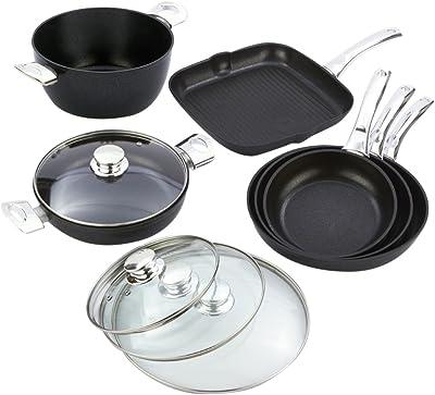 Bisetti Black Diamond Aluminum Cookware Set, Large