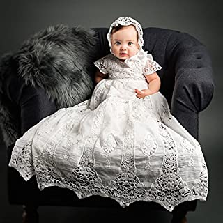 Grace Lace Christening and Baptism Gown & Bonnet