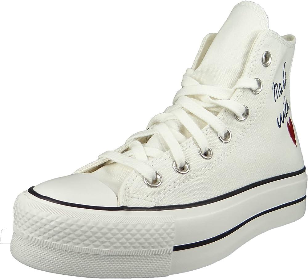 Converse chucks plateau sneakers casual da donna in tela VN25CONVERSE637B