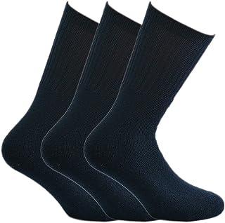 Fontana Calze, 6 paia di calze sportive in cotone spugna - BLU