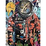 HJKLP Astronauta Space Poster Graffiti Street Art Pinturas Impresión en Lienzo Banksy Cuadros de Pared para Salon de Estar Decoracion Moderna del hogar 70x90cm sin Marco